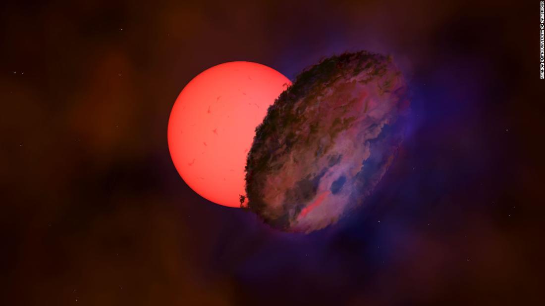 Giant blinking star near center of Milky Way