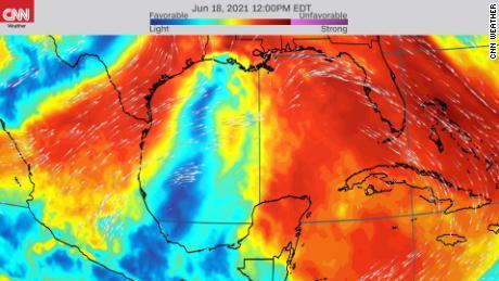 Storm could enter a more development-friendly environment next week.