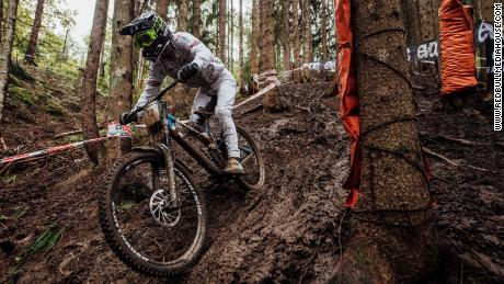 Reece Wilson performs at UCI DH World Championships in Leogang, Austria on October 11, 2020 // Usage for editorial use only