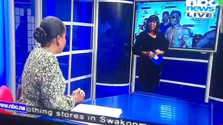 WATCH: Awkward On-Air Exchange Between Namibian News Broadcasters Goes Viral