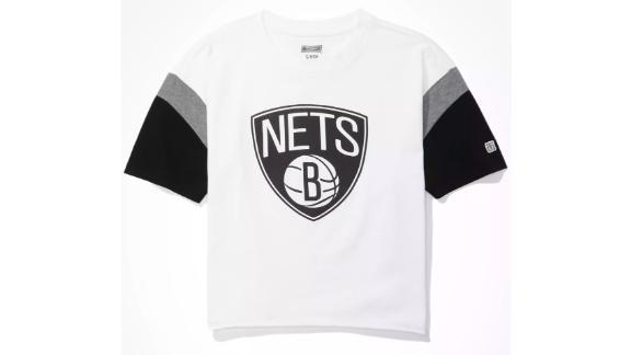 AE Tailgate Women's Brooklyn Nets Colorblock T-Shirt
