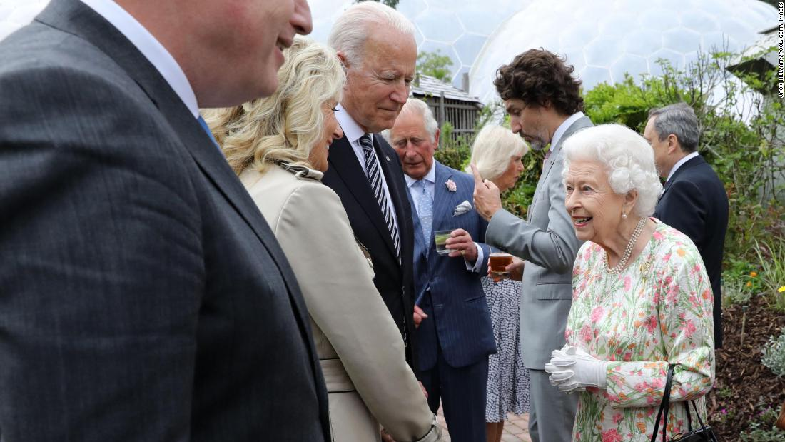 As G7 wraps up, Biden meets the Queen
