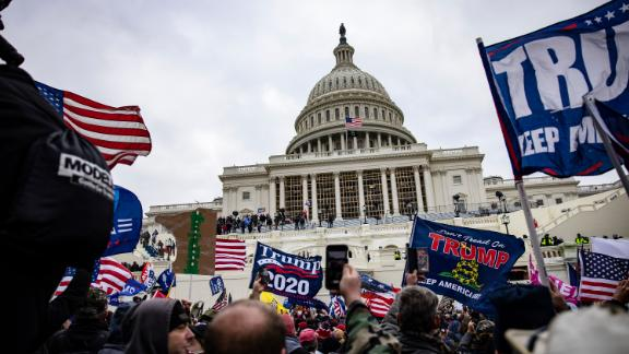 Pro-Trump supporters storm the U.S. Capitol following a rally with President Donald Trump on January 6, 2021 in Washington, DC. Trump supporters gathered in the nation's capital today to protest the ratification of President-elect Joe Biden's Electoral College victory over President Trump in the 2020 election.
