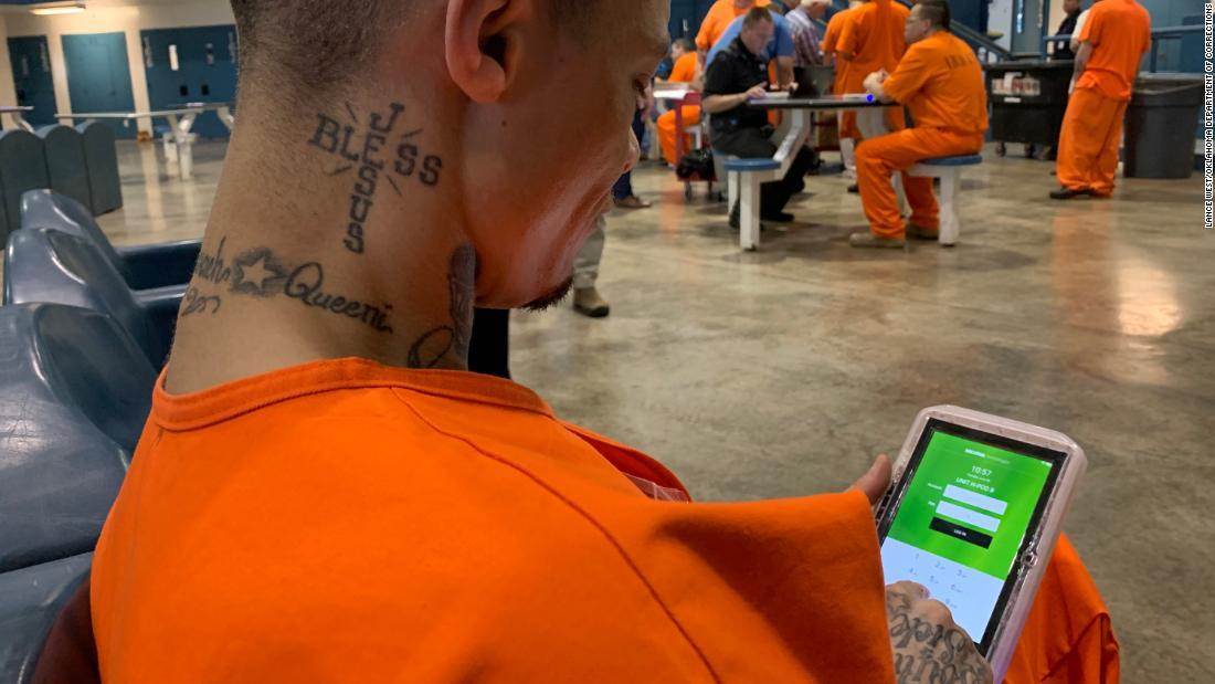 Inmates at Oklahoma prisons begin receiving computer tablets