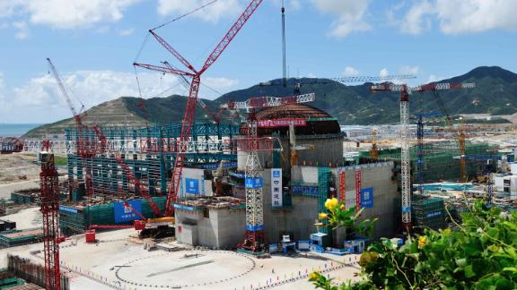 View of the construction site of the Taishan Nuclear Power Plant in Taishan city, south China's Guangdong province, 12 September 2012.