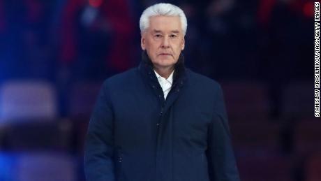 Мэр Москвы Сергей Собянин на концерте на стадионе