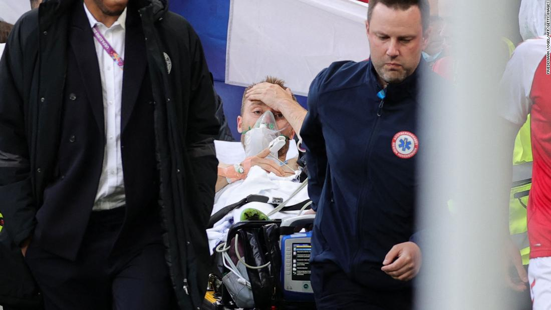 Christian Eriksen in stable condition after collapsing during Denmark's Euro 2020 match against Finland