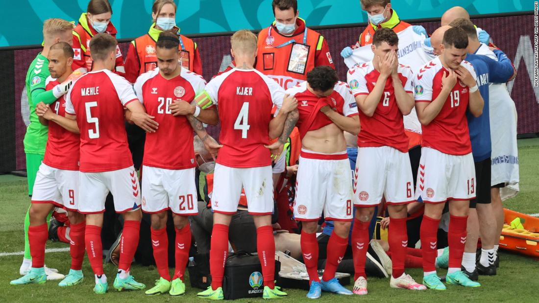 Euro 2020 match suspended after player collapses