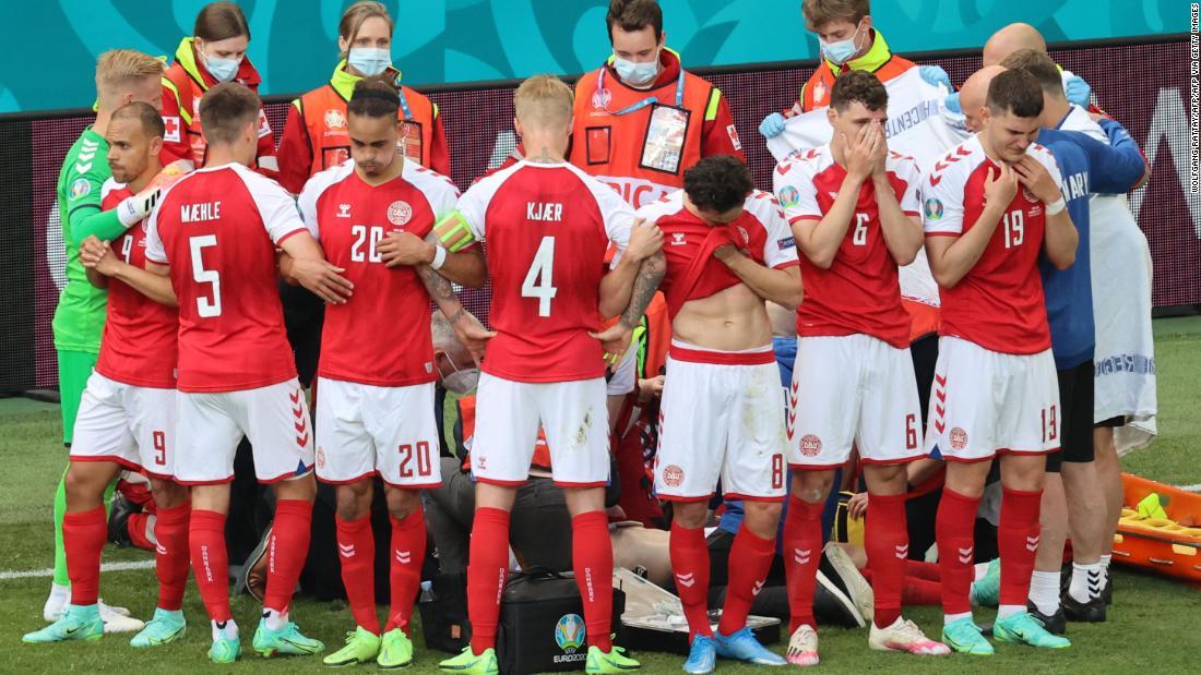 Denmark's Christian Eriksen collapses during Euro 2020 match against Finland