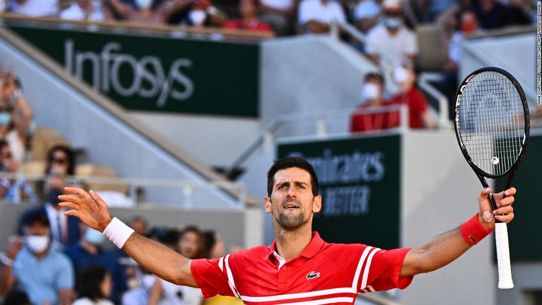 Novak Djokovic comes from two sets down to win thrilling French Open final