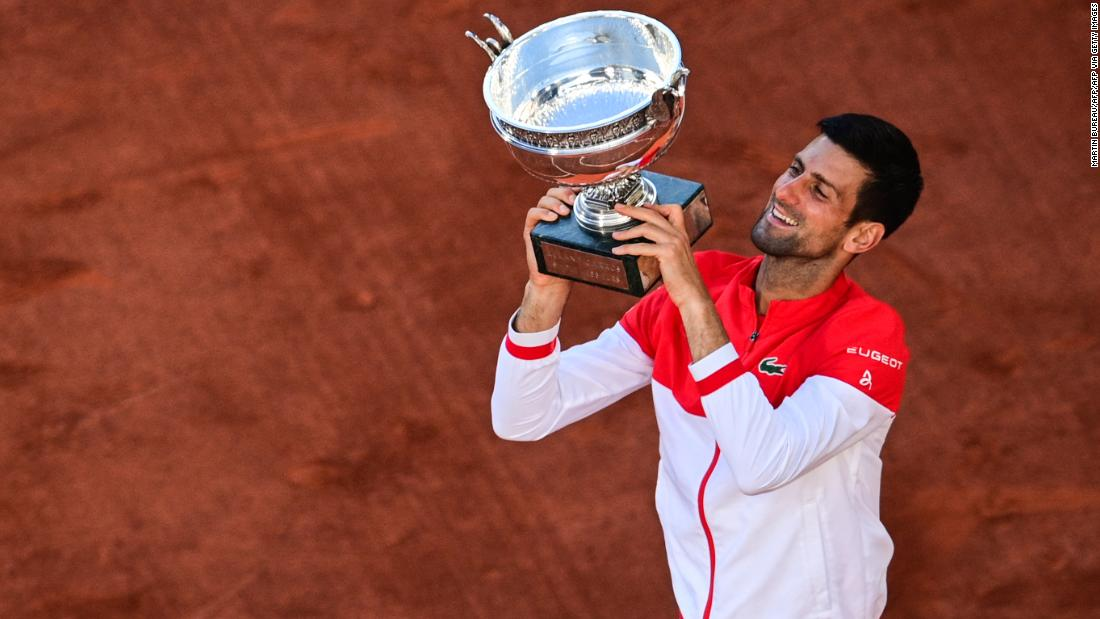 Novak Djokovic comes from two sets down to beat Stefanos Tsitsipas in thrilling French Open final