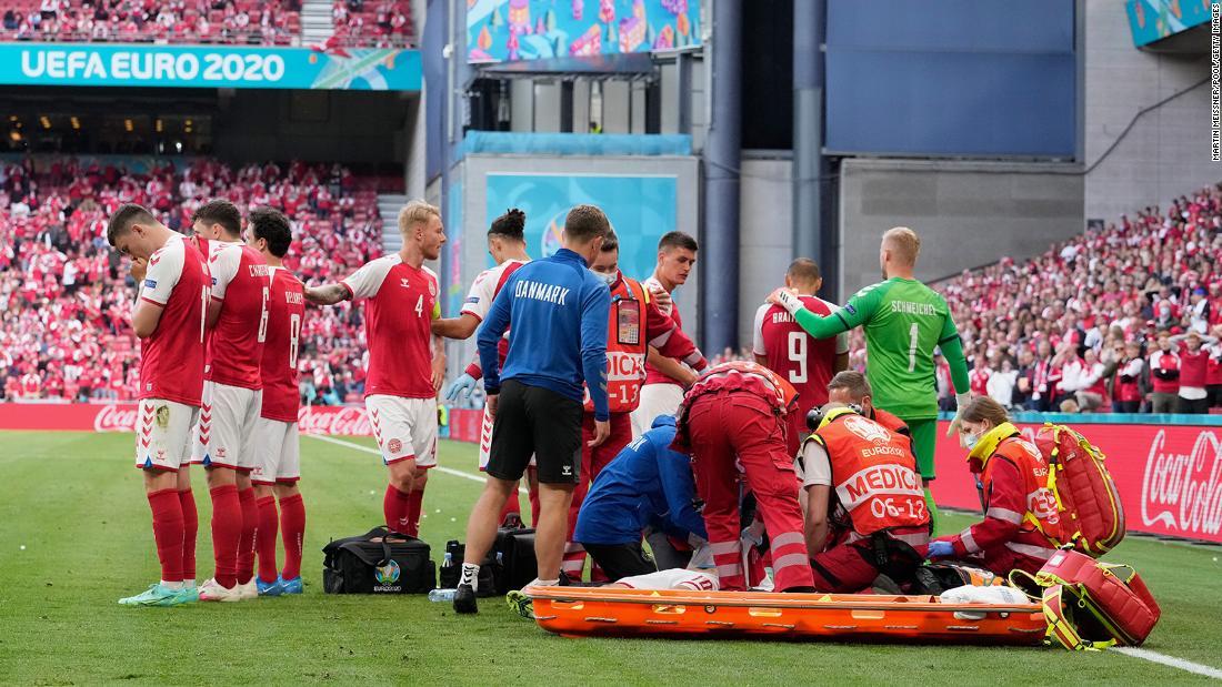 Denmark's Martin Braithwaite criticizes UEFA for resuming game following Christian Eriksen's collapse
