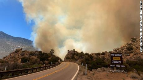 Western wildfires spread through California and Arizona as drought furthers extreme fire conditions