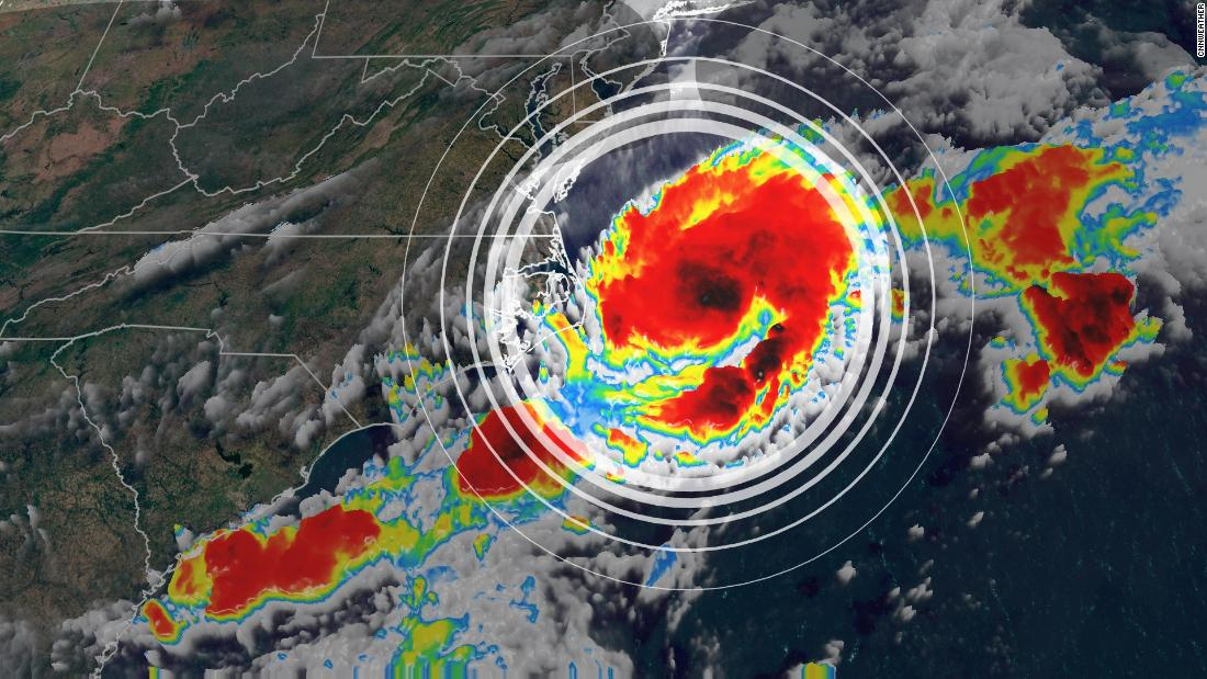 Tropical depression 2 has formed off the East Coast of the US