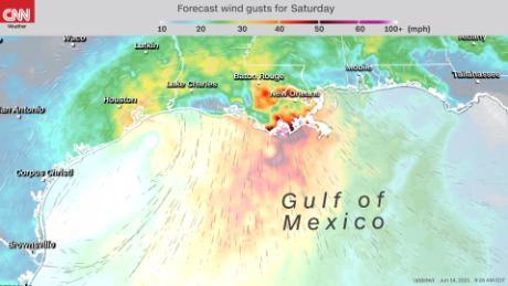 El área de baja presión en el Golfo de México podría afectar a los estados de la Costa del Golfo este fin de semana.