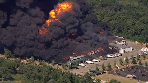 The cause of the fire at the Chemtool Inc. plant in Rockton, Illinois, is not yet known.