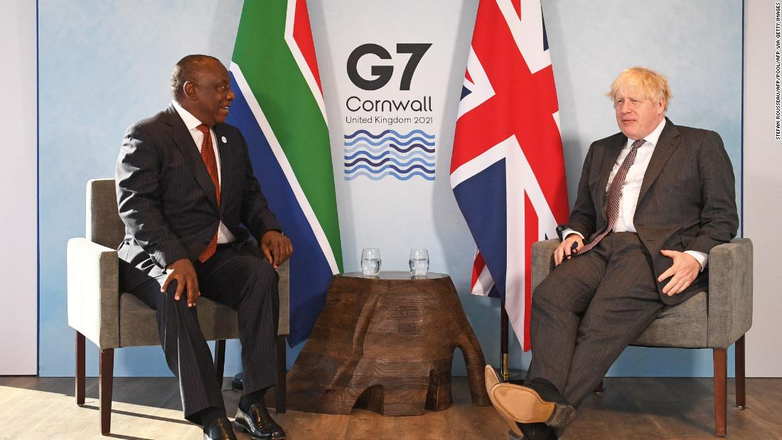 South Africa's President urges G7 nations to plug Covid-19 funding gap