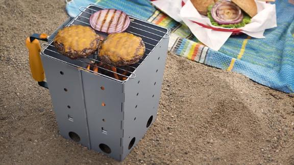 Collapsible Camping Grill and Chimney Starter