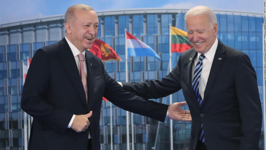 Erdoğan and Biden hold bilateral meeting following NATO summit – CNN