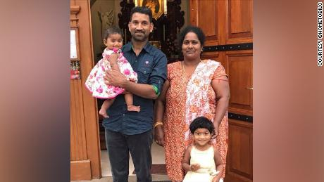The family was living in the Queensland country town of Biloela when Australian Border Force agents detained them ahead of their planned removal from Australia.