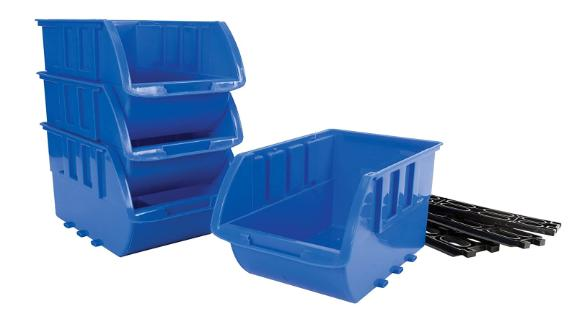 Large stackable storage trays