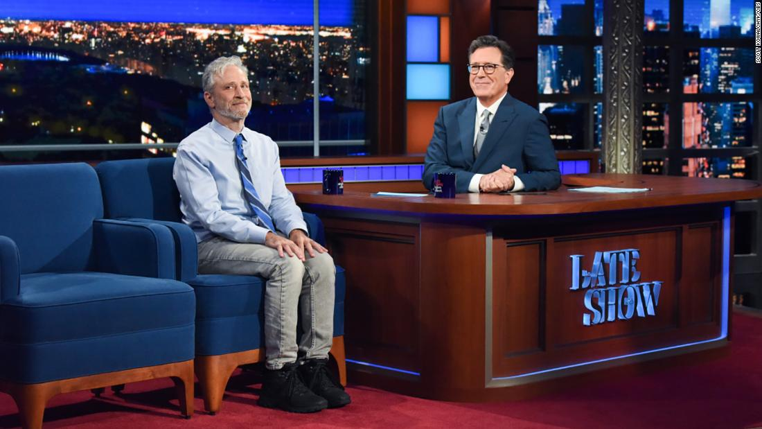 'So... how ya been?': Stephen Colbert welcomes an audience back to 'The Late Show'