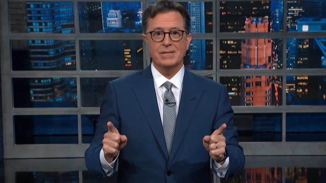 Stephen Colbert welcomes back live audience after 15 months