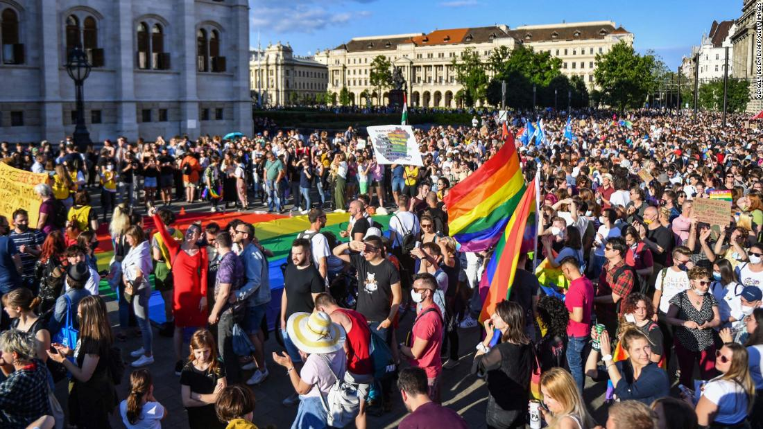Hungarians protest against Orban's LGBTQ rights crackdown