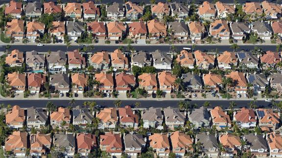 Aerial view of single-family homes photographed during a media flight for the Great Pacific Airshow in Huntington Beach, CA, on Thursday, Oct 3, 2019. (Photo by Jeff Gritchen/MediaNews Group/Orange County Register via Getty Images)