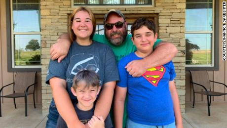 Shannon Carpenter and his wife, Erin, chose for him to stay at home with their kids.
