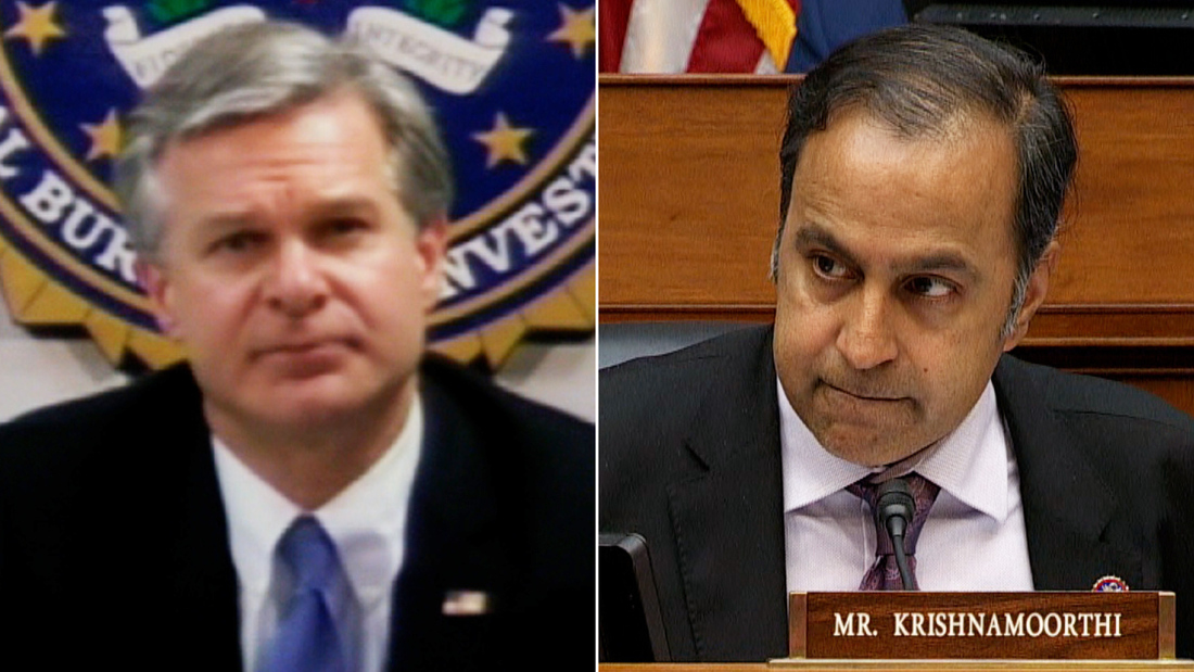 'You are being evasive': Questioning of FBI director gets contentious