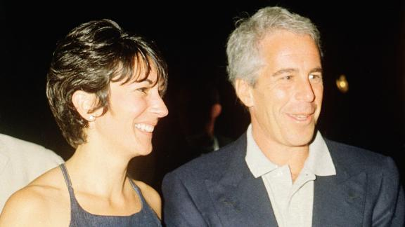 Ghislaine Maxwell and Jeffrey Epstein during a party at the Mar-a-Lago club, Palm Beach, Florida, on February 12, 2000.