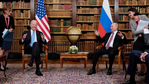 President Joe Biden meets with Russian President Vladimir Putin, Wednesday, June 16, 2021, at the 'Villa la Grange', in Geneva, Switzerland.