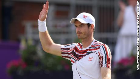 Andy Murray collapses after winning return to Queen's Club