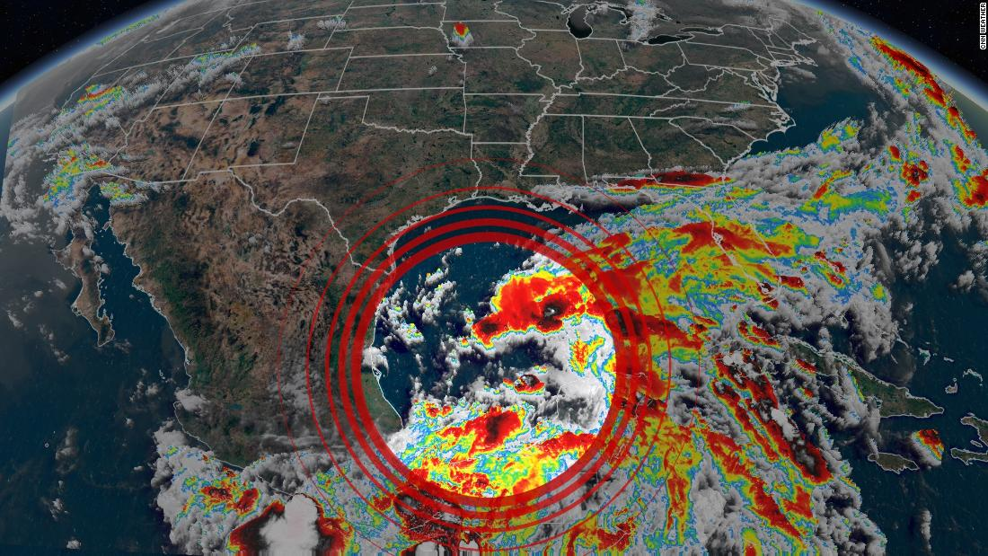 Claudette is likely to form and make landfall in the US this week  delivering close to a foot of rainfall