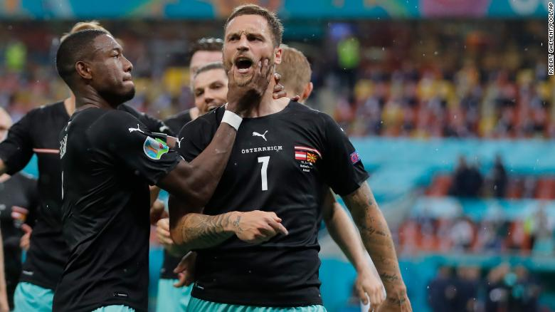 Austria forward Marko Arnautovic banned for one game after 'insulting' opposition at Euro 2020