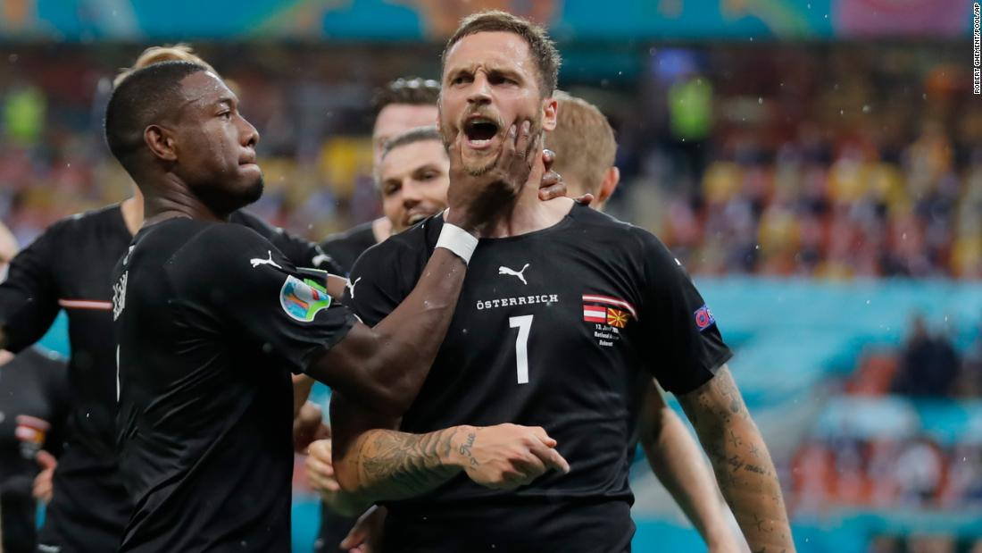 Austria forward banned for one game after 'insulting' opposition at Euro 2020