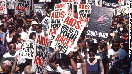 A 1994 ACT UP demonstration