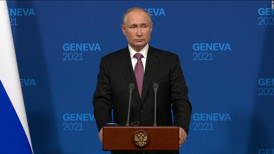 Putin faces question about cyber attacks against the US