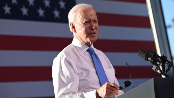 President Joe Biden holds a press conference after the US-Russia summit in Geneva on June 16, 2021.