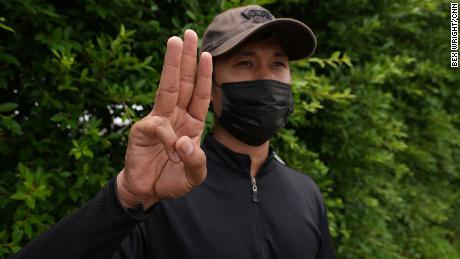 Myat, un travailleur migrant à Bangkok, en Thaïlande, en mai 2021.