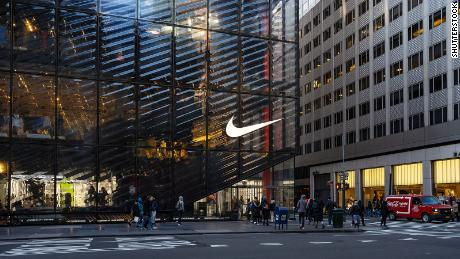 A Nike retail store in New York City is pictured in this undated photo.