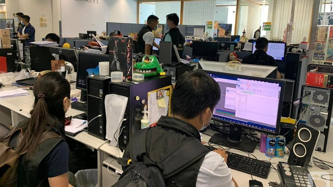 Apple Daily's newsroom raid has chilling effect on the press in Hong Kong