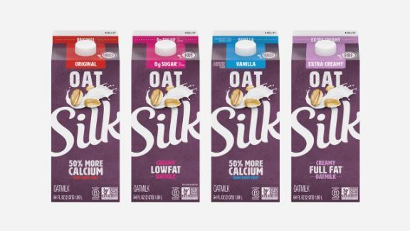 Silk Oatmilk's new packaging.