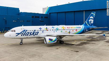 Alaska Airlines reveals new Pride-themed livery