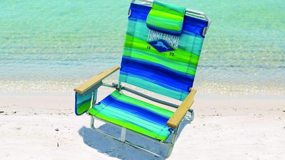 Tommy Bahama 5-Position Classic Lay-Flat Folding Backpack Beach Chair