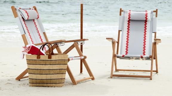 Serena & Lily Teak Beach Chair