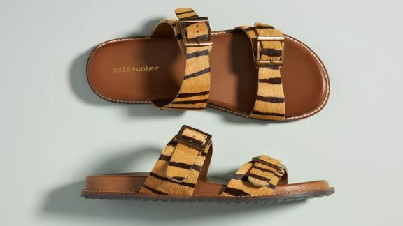 Salt + Umber 2-Strap Sandals