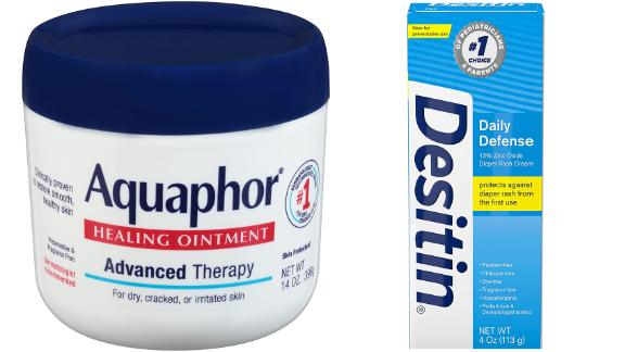 Aquaphor Healing Ointment & Desitin Diaper Rash Cream