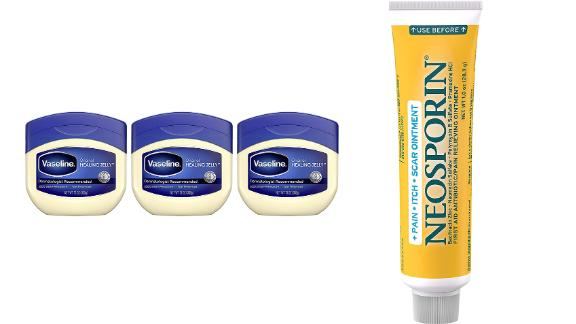 Vaseline Petroleum Jelly, 3-Pack & Neosporin Pain-Relieving Ointment